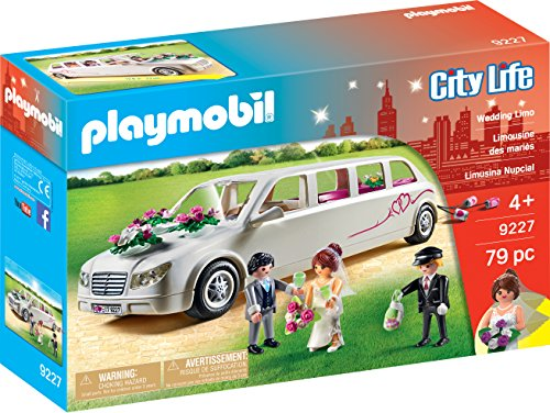 PLAYMOBIL 9227 City Life Wedding Limo, for Children Ages 4+