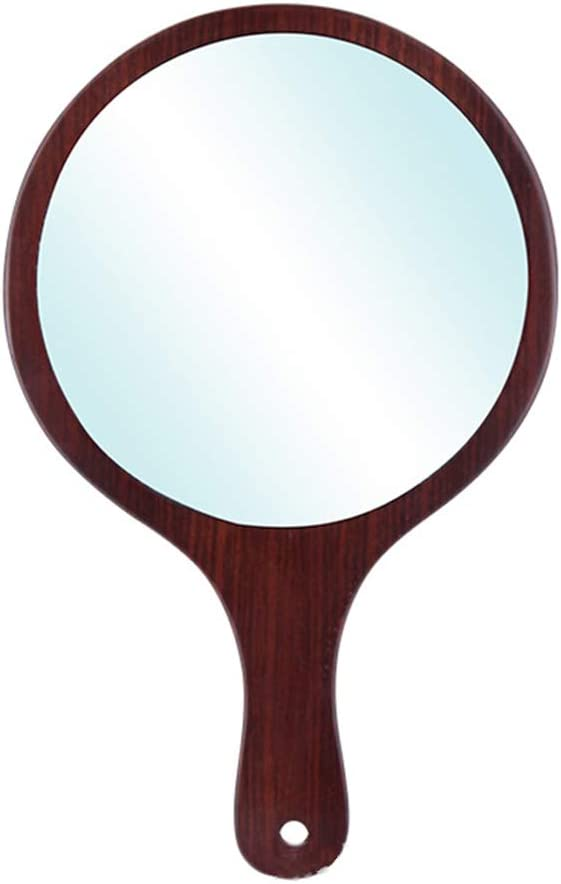 Handle mirror Wooden Handheld Mirror H Professional Max 54% OFF Import Barber Salon