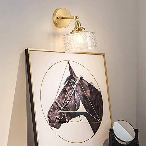Lantaarn wandlamp van kristalglas, wandlamp voor de muur in de spiegel, van massief messing, massieve verlichting met arm, wandlamp van glas, moderne verlichting