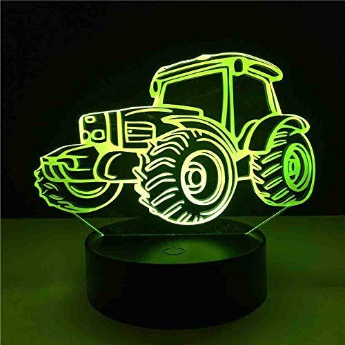 GZGNL 3D Led Night Light 7 Cambia colore Cool Dune Beach Buggy Car Desk Tavolo Lava Lampara Rc Remote Control Kid Boy regalo di Natale