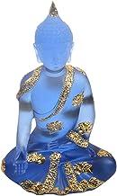 Prettyia Resin Southeast Asian Buddha Statues Ornaments Hyaline Blue