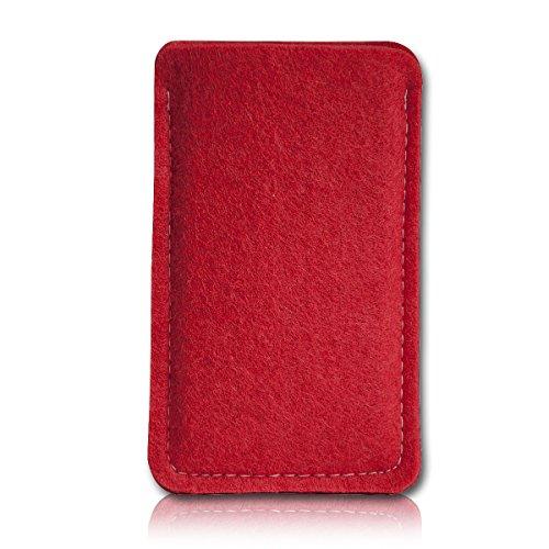 sw-mobile-shop Filz Style Emporia Pure V25 Premium Filz Handy Tasche Hülle Etui passgenau für Emporia Pure V25 - Farbe rot