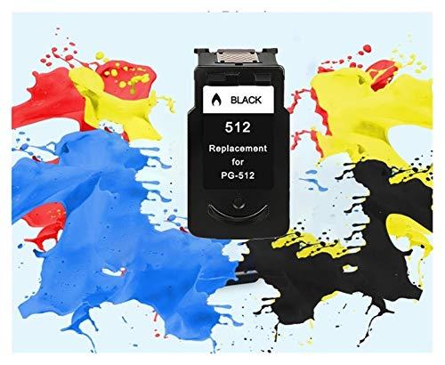 YJTT Compatible PG512 CL513 for Canon pg 512 del Cartucho 513 de Tinta cl for Pixma MP230 MP250 MP240 MP270 MP480 MX350 iP2700 Impresora pg-512 (Color : 1pcs 512XL BK)