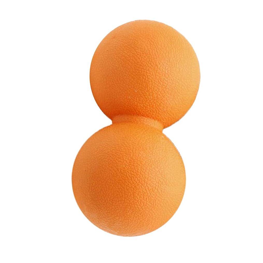 CUTICATE 全2色 マッサージボール ピーナッツ ツボ押しグッズ 疲れ解消ボール 筋膜リリース 筋肉疲労回復 - オレンジ, 13cm