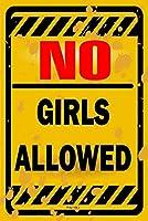 女子禁止 金属板ブリキ看板警告サイン注意サイン表示パネル情報サイン金属安全サイン