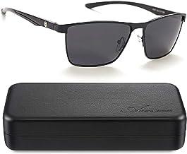 Polarized Sunglasses Aluminum Magnesium Vintage Sun Glasses For Men Women UV Protection,Glasses Case Included