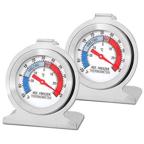 Herefun Termometro da Frigorifero, Termometro Digitale per Testare Frigorifero, Frigorifero, Termometro Congelatore, Piccolo Tondo, Termometro Preciso, Qualità di Sicurezza (2)