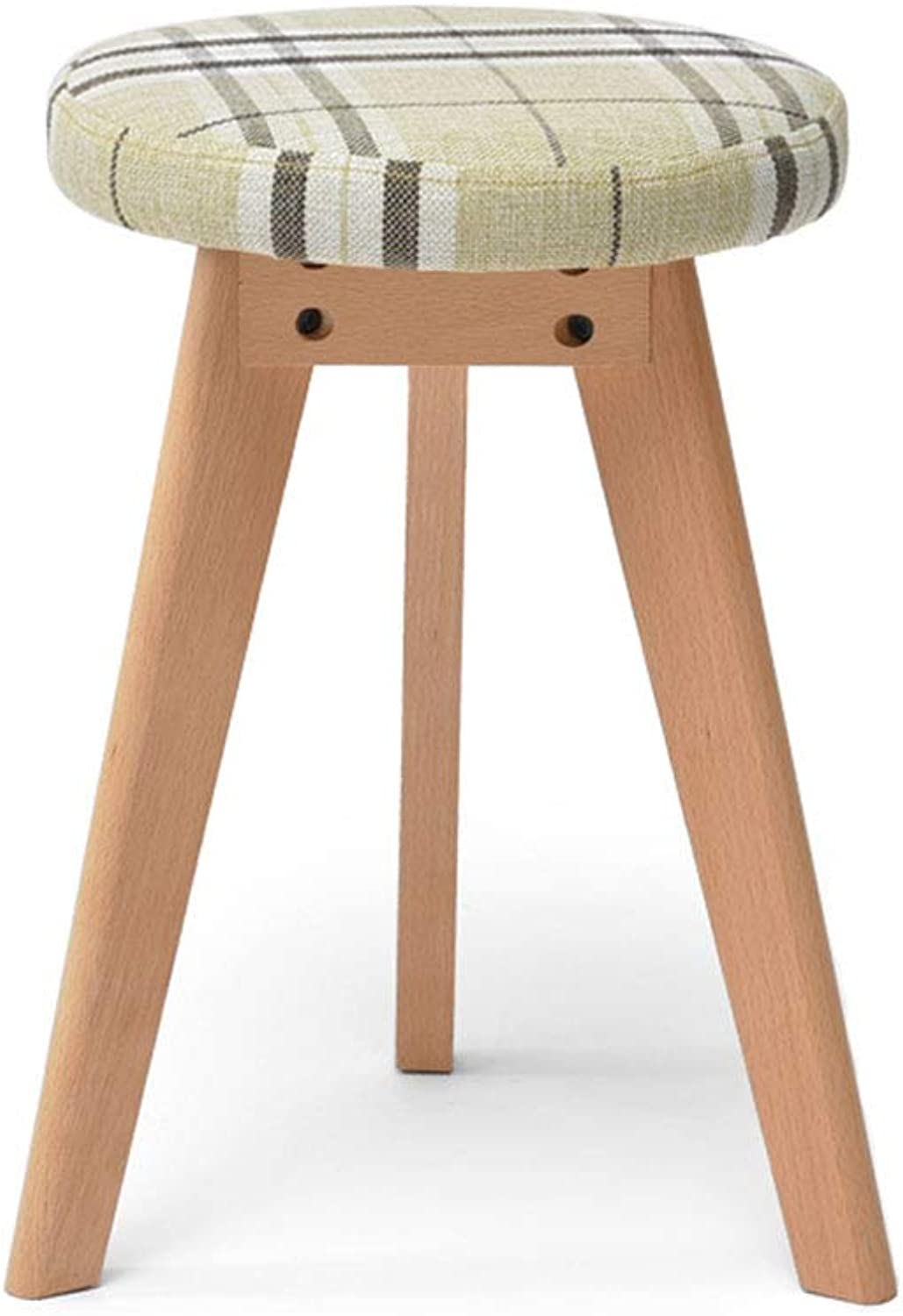 Household Solid Wood Stools Dressing Stools Makeup Stools Fabric Sofa Stools 2 colors Optional (color   B)