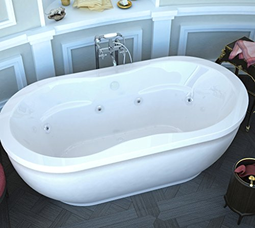 Atlantis Whirlpools 3471AD Embrace 34 x 71 x 21 inch Oval Freestanding Air & Whirlpool Water Jetted Bathtub