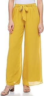 A+D Womens Chiffon Long Palazzo Pants - Wide Leg Dress...