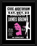 Vinmag Gerahmtes Mini-Poster, Motiv James Brown Civic
