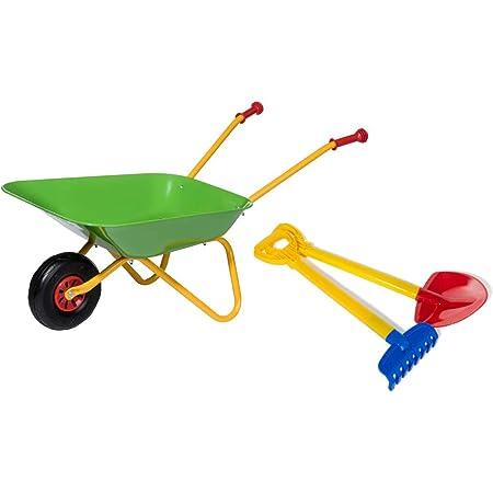 Rolly Toys Pala y rastrillo (Carretilla de Metal soporta hasta 25 kg, a Partir de 2 años), Color Verde, 1 RAD (272846)