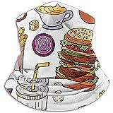 Bklzzjc Berühmte Fast Food und Getränke Nackenwärmer - Nackenschutzrohr, Ohrenwärmer Stirnband & Gesichtsmaske.