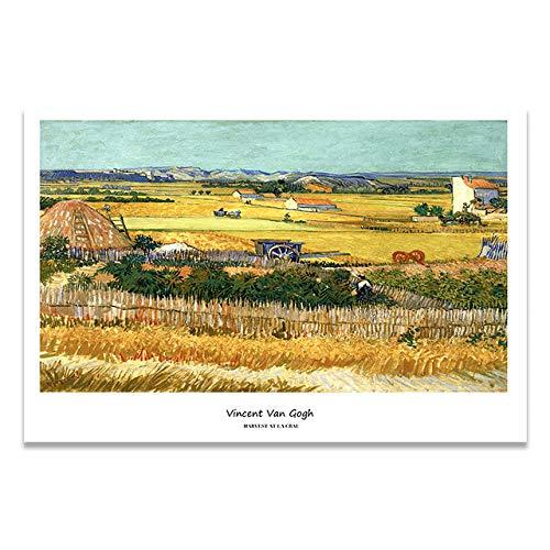 LiMengQi2 El portafolio de Van Gogh Foto Lienzo Imprime Carteles murales, Salas de Estar, Artistas clásicos, Arte, decoración del hogar (sin Marco)