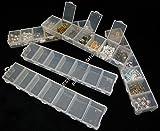 Perlenbox 4Stk Schmuck Perlen Box mit 7 Fächer Jeweils Sortierbox B23