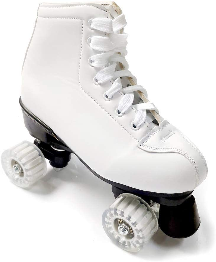 Roller Skates Double Row Four-Wheel High-top PU Roller Skates for Women and Men Adults Free Shoe Bag