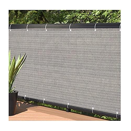 YJFENG Balkon Privatsphäre Bildschirm, Zaun Schild Dekorationen, Belüftung Sonnenschutz Startseite Panels Für Deck Garten Schutz, Undurchsichtig (Color : Gray, Size : 1.2x7m)