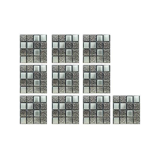 Xiauyu - 10 pegatinas de pared de cristal 3D, autoadhesivas, para decoración del hogar y baño, cocina