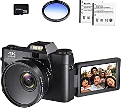 4K Digital Vlogging Camera for YouTube 4k Camcorder HD 1080P 48MP Video Camera with WiFi Connection 3.0