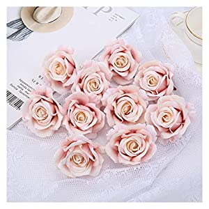 YSQSPWS Artificial Flowers 5cm Artificial Flowers Head Silk Rose Flower for Wedding Home Decoration Colorful (Color : Lotus Color, Size : 2pcs)