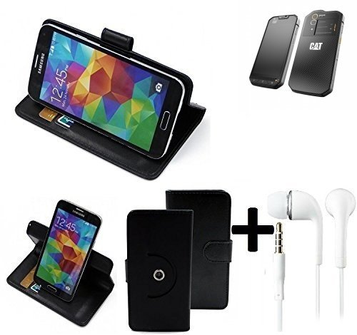 K-S-Trade Top Set: 360° Funda Smartphone para Cat S60, Negro + ...