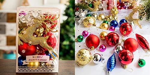 Zhenpony Christmas Balls Ornaments Set, 30Pcs Shatterproof Christmas Tree Balls for Holiday Wedding Party, Hanging Tree Decoration Baubles Set (Multicolor)