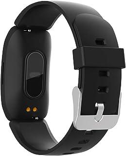 Rastreador de Ejercicios IP67 Impermeable, Reloj Pulsómetro Presión Arterial Monitor de Sueño podómetro Recordatorio sedentario Llamar SMS SNS Reloj Inteligente Bluetooth SMS Push