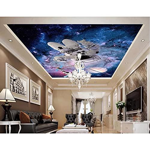 Foto 3D murales de techo papel tapiz astronauta estación espacial decoración pintura 3D murales de pared papel tapiz para paredes 3D 400X280cm