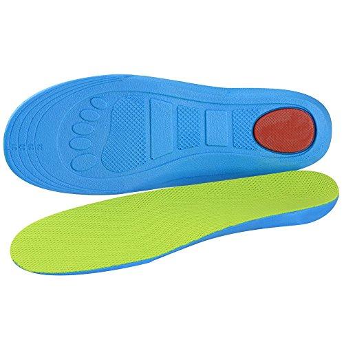 SOUMIT Kinder Einlegesohlen (XL E32/35 EU, Länge: 23,3CM) | Gesund Orthopädisch PU Schuhe Pad mit Dämpfung Silikon-Gel Heel Kissen für Freizeit Sport Laufen Fußball, Schützen Sie Ihre Füße