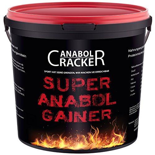 Super Anabol Gainer, Whey Protein Creatin Shake, 2400g Schoko oder Orangen Geschmack, Eiweißpulver, Taurin, Kreatin, Aminosäuren (Schoko)