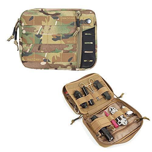 EXCELLENT ELITE SPANKER Molle Admin Pouch Tactical EDC Tool Pouch Military Nylon Holder Modular Utility Organizer Bag(Multicam)