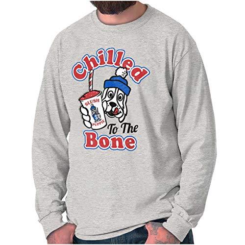 Vintage Chilled to The Bone Slush Puppie Long Sleeve T Shirt Sport Grey
