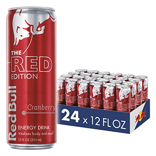 Red Bull Energy Drink, Cranberry, 24 Pack of 12 Fl Oz, Red Edition