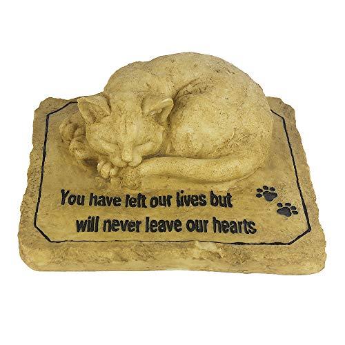 NAAG Katze-Gedenksteine mit Einer 3D-Katze, Sympathie Haustier Gedenksteine Garten Steine für Katzen, perfekte Katze Gedenkgeschenk für Outdoor Indoor-Garten Hinterhof oder Rasen