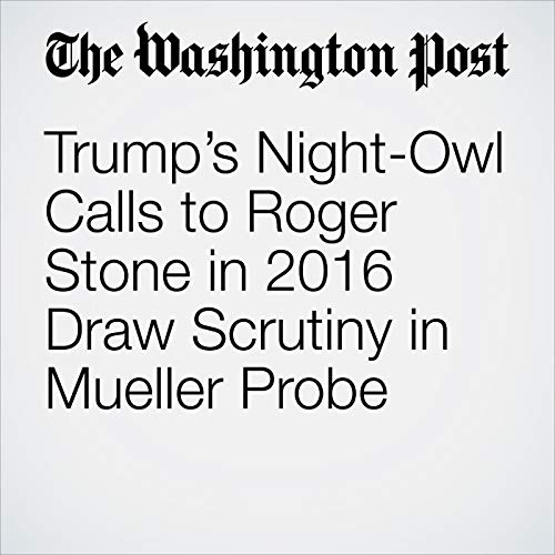 Trump's Night-Owl Calls to Roger Stone in 2016 Draw Scrutiny in Mueller Probe audiobook cover art