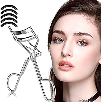 Zowor Long Lasting Eyelash Curler with 5-Pieces Silicone Refill Pads