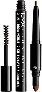 NYX Professional Makeup 3 In 1 Brow Pencil, Soft Brown