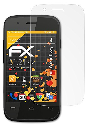 atFolix Panzerfolie kompatibel mit Wiko Ozzy Schutzfolie, entspiegelnde & stoßdämpfende FX Folie (3X)