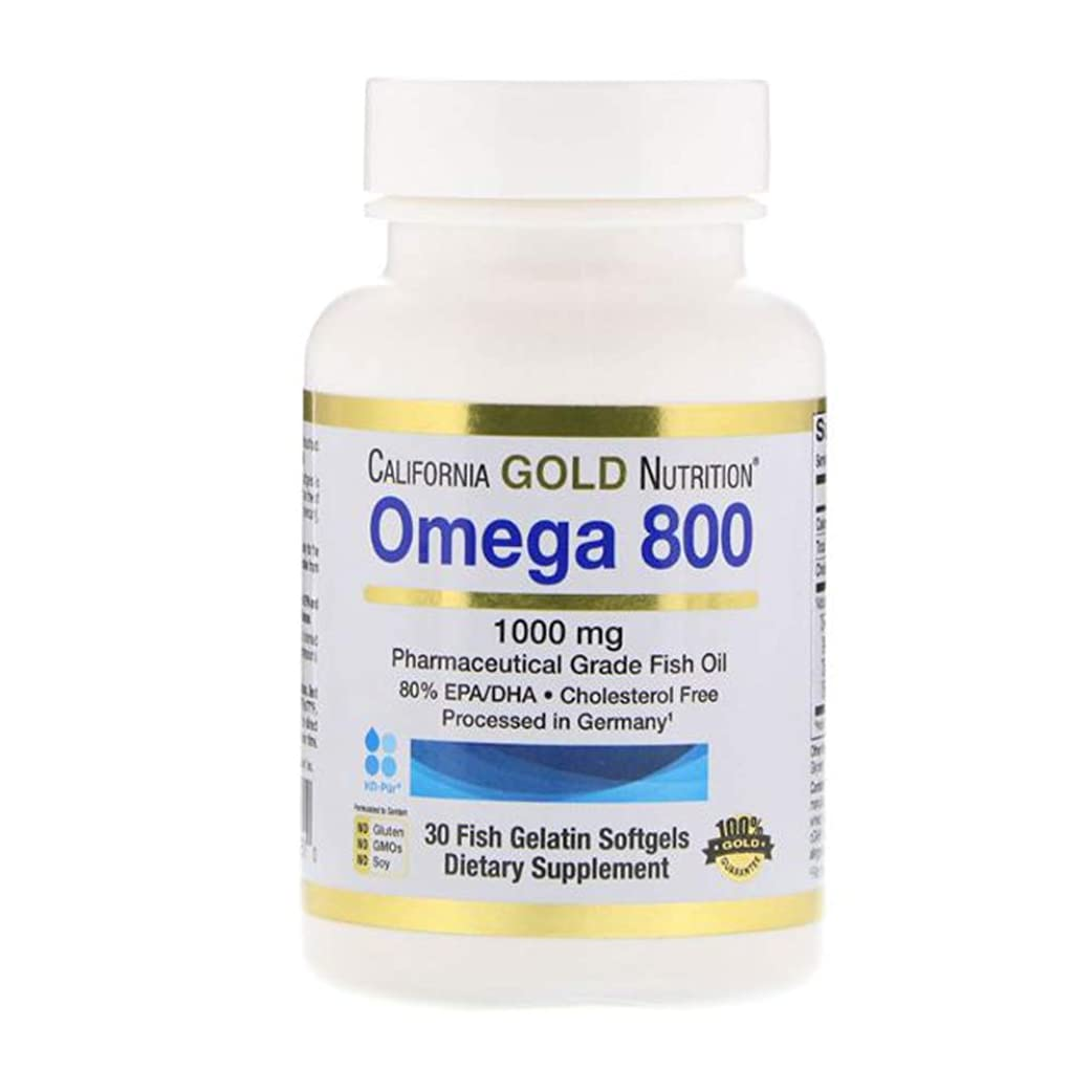 究極の雄弁ブースCalifornia Gold Nutrition オメガ 800 80% EPA DHA 1000mg 30個 【アメリカ直送】