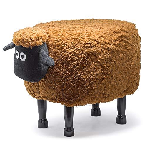 Divina Home Hocker Fußhocker weich Design für Kinder Schaf