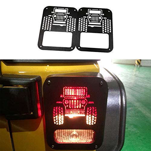BXE Car Tail Light Covers Trim Guards Protector Fit for Jeep Wrangler JK 2007-2016