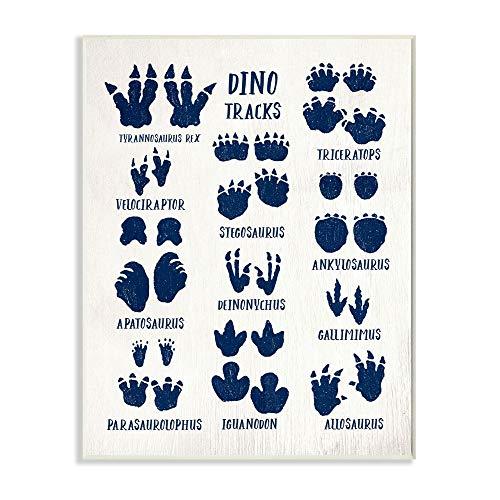 Stupell Industries Rustikales Schild mit Dinosaurier-Motiv, für Reptilien, entworfen von Daphne Polselli Art, 13 x 19 cm