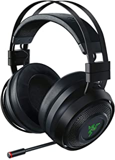 Razer Nari Ultimate Wireless 7.1 Surround Sound Gaming Headset: THX Audio & Haptic Feedback - Auto-Adjust Headband - Chroma RGB - Retractable Mic - For PC, PS4 - Black