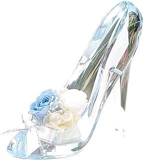 プリザーブドフラワー IPFA ガラスの靴 シンデレラ [プレゼント] ギフト/花/結婚記念日/誕生日/バラ (サムシングブルー)
