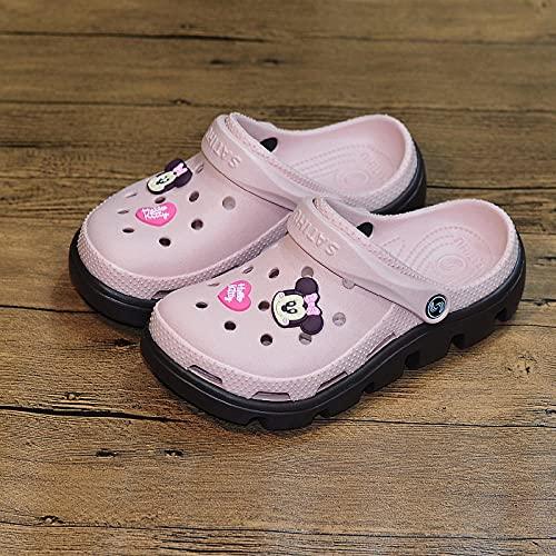 Zapatillas De Casa para Mujer Cerradas,Zapatillas De Moda Femeninas De La Playa, Plano con PVC Resistente Al Desgaste Inferior, Sandalias De Cabeza, Paseo MaríTimo De JardíN Zapatos De BañO-I 43 (26.