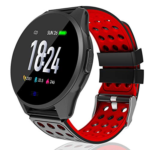 Kemier Smart Watch,Fitness Tracker , Blood Pressure and Heart Rate Monitor, Sleep Monitor,Running Activity Tracker,1.3 in Color Touch Tracking Smartwatch with Pedometer,Calorie Counter for Men Women