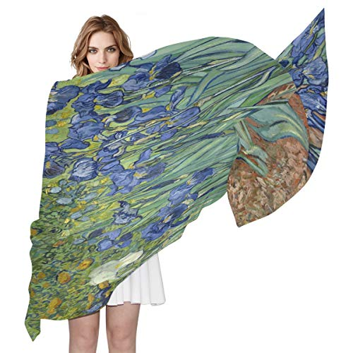 Van Gogh Flower Women Scarf Long Neck Scarves for Lady