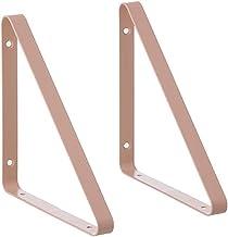 GAXQFEI 2 Stks Metalen Drijvende Planken Wandmontage Plank Supporter Muur Opknoping Boekenplank Beugel Frame, Modern Desig...