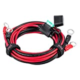 YCIND 3/8' Ring Eyelet Terminal Battery Boost Cable Heavy-Duty 30A Fuse 12V/24V 12AWG Cord 10Ft