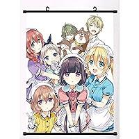 アニメの巻物の絵画ぶら下げポスター家の装飾壁のポスターアニメファンは贈り物を集める19.7x29.5inch / 50x75cm
